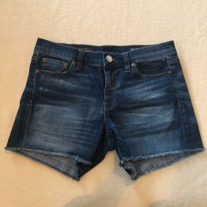 J. Crew indigo denim cutoff jean shorts